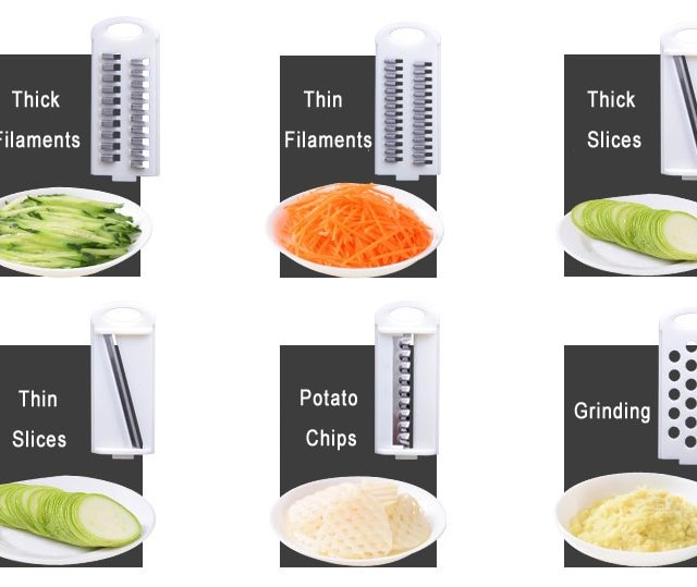 Vegetable Cutter With 6 Steel Blade Mandoline Slicer Potato Peeler Carrot Cheese Grater Vegetable Slicer Kitchen Accessories GYH