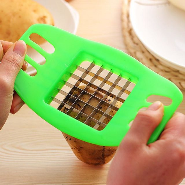 1pc Creative Potatoes Cutter Making French Fries Potato Cutter Practical TooMulti-function Slicing Kitchen Gadget Random Color