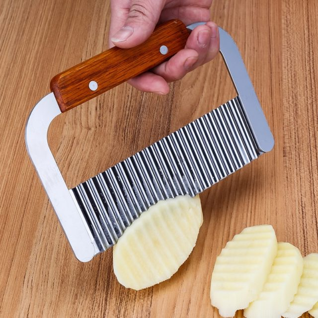Stainless steel potato knife wave knife spiker slicer cutting machine cut French fries ripple knife cut fancy fries knife tools