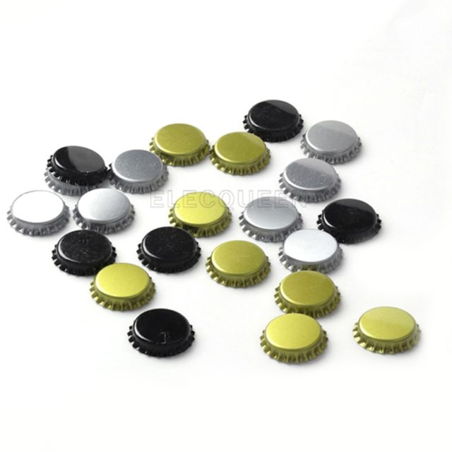 100pcs/lot Beer Bottle Caps Beer Lid Cover For DIY home Brewing Beer Tool Colour  Gold/ Black/ Silver Free Shipping