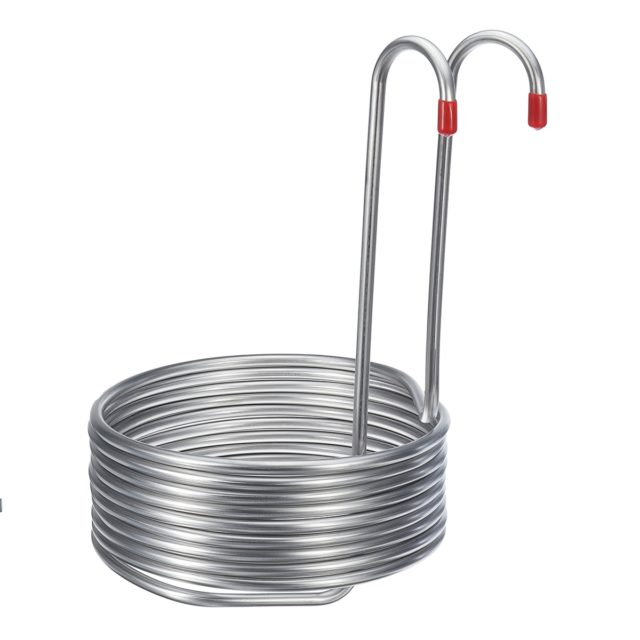 8.8M Super Efficient 304 Stainless Steel Beer Cooling Coil Home Brewing Immersion Wort Chiller Pipe Bar Wine Making Machine Part