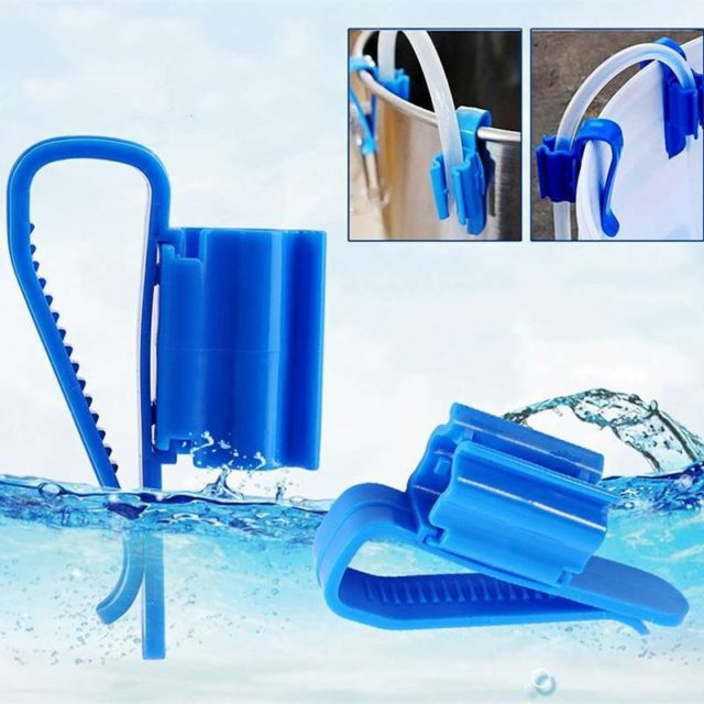 2 PCS Home Brew Bucket Clip Pipe Syphon Tube Flow Control Wine Beer Clamp Fish Aquarium Filtration Water Pipe Filter Hose Holder