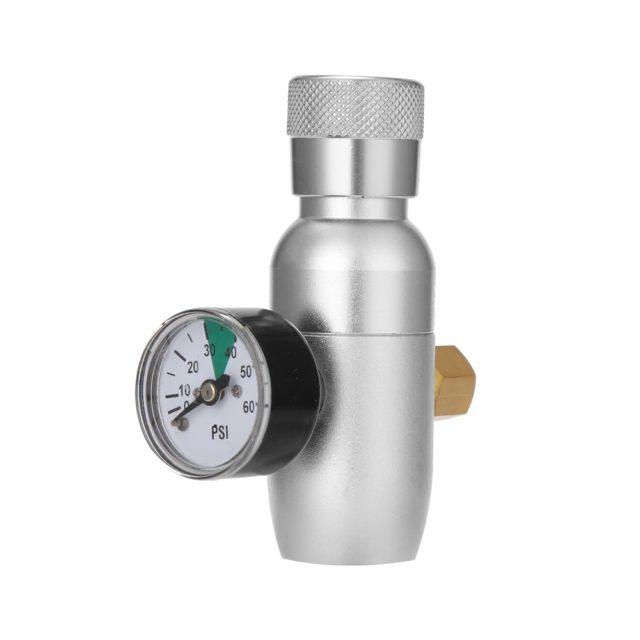 Homebrew Kegging Pressure Reducing Valve Ball Lock Mini Regulated CO2 Charger Home Brewing Beer Drink Tool Accessories 60 PSI