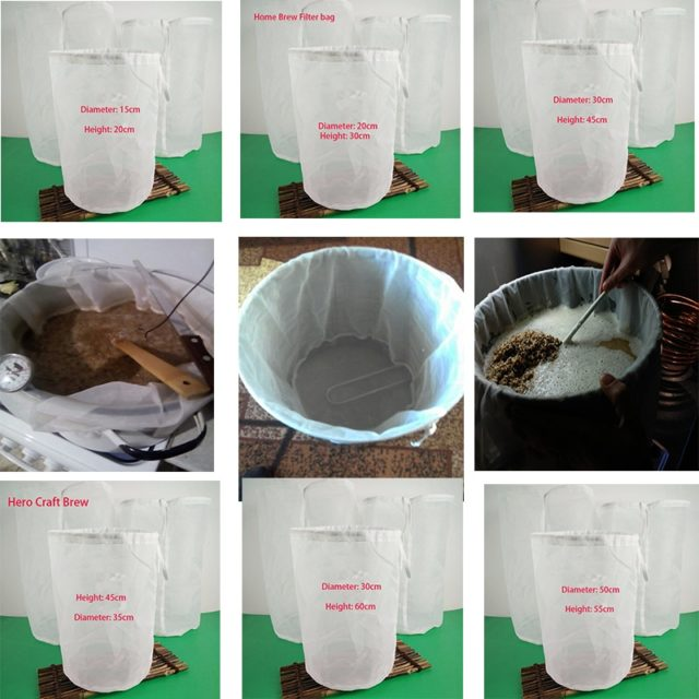 Home Beer Brew Filter Bags For Craft Wine Brew Filtering