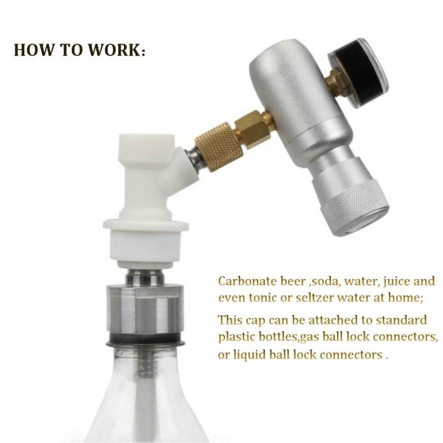 Beer Brewing Carbonation Cap with 5/16