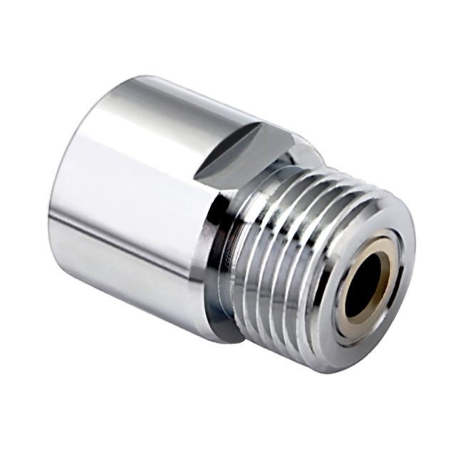 Co2 Cylinder Adapter,Soda Water Bottle Adapter T21-4 convert to W21.8 Regulator Home Brewing Beer Keg Connector Accessories