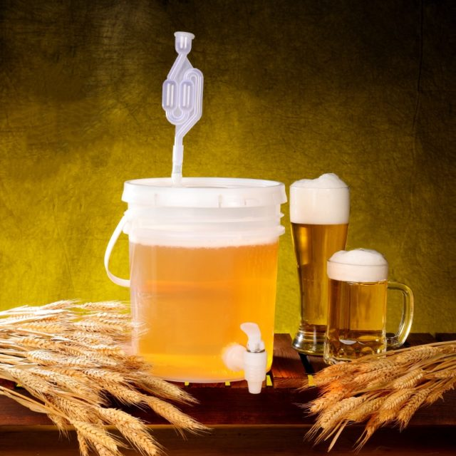 5L,10L household plastic enzyme bucket leakproof wine fermentation container Beer fermenter BPA Free 1PCS