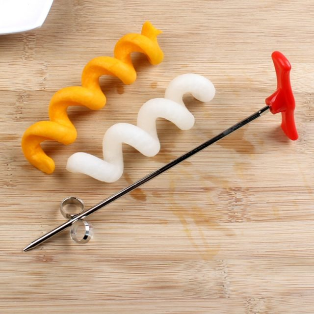UPORS Vegetables Spiral Knife Carving Tool Potato Carrot Cucumber Salad Chopper Manual Spiral Screw Slicer Cutter Spiralizer