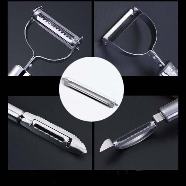 Stainless Steel Paring Knife Multi-function Fish Scale Planing Apple Potato Peeler Melon Fruit Planing Kitchen cutter Acssessory