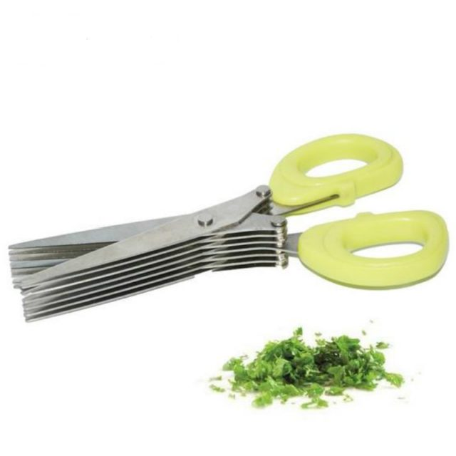 19cm Minced 5 Layers Multifunctional Kitchen scissor Shredded Chopped Scallion Cutter Herb Laver Spices Cook Tool cut