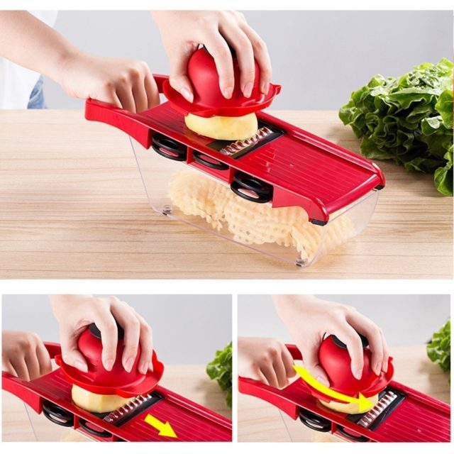 Vegetable Cutter With Steel Blade Mandoline Slicer Potato Peeler Carrot Cheese Grater Vegetable Slicer Kitchen Accessories Tool