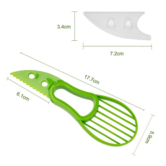 3 In 1 Avocado Slicer Shea Corer Butter Fruit Peeler Cutter Pulp Separator Plastic Knife Kitchen Vegetable Tools Home Accessory