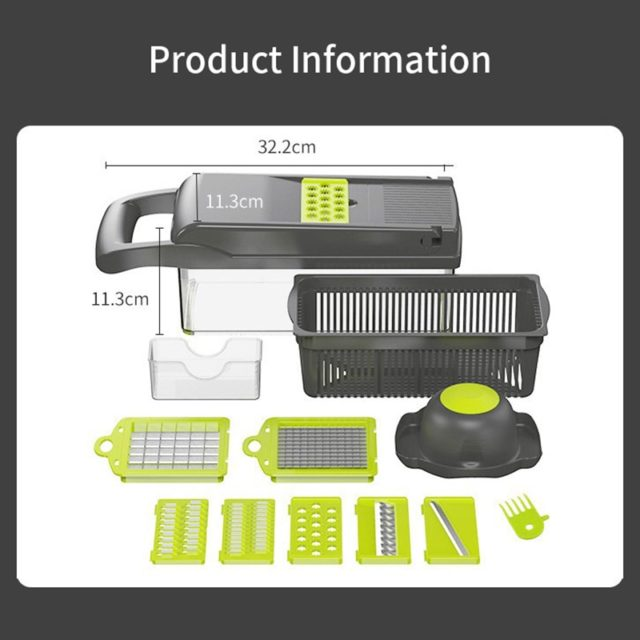Vegetable Cutter Kitchen Accessories Slicer Fruit Cutter Potato Peeler Carrot Cheese Grater Vegetable Slicer With Drain Basket