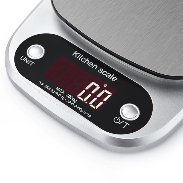 10kg/1g LCD Electronic Kitchen Scales Household Balance Cooking Measure Tool Stainless Steel Digital Weighing Food scale G OZ ML