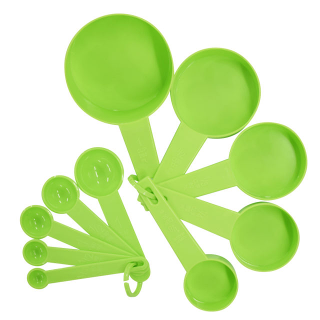 10pcs 6 Color Measuring Cups And Measuring Spoon Scoop Silicone Handle Kitchen Measuring Tool FreeShipping