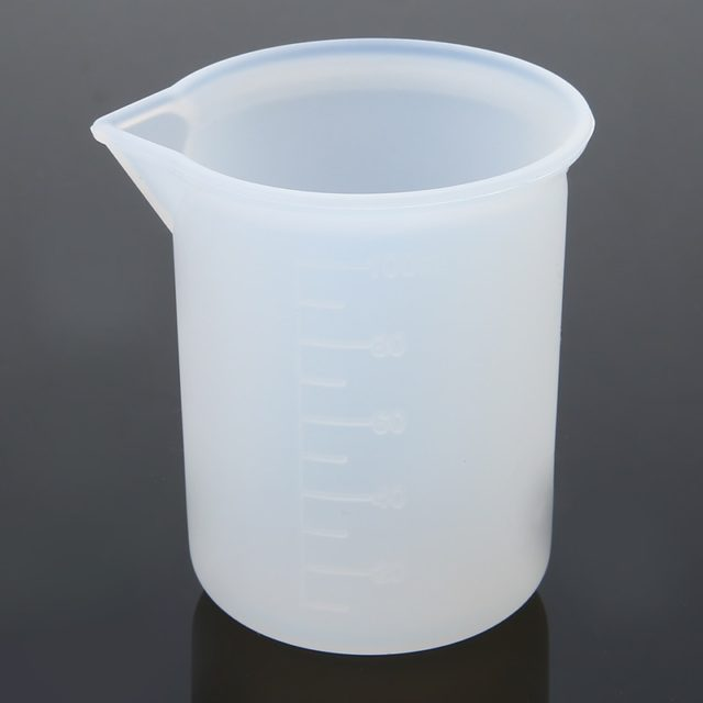 Measuring Cup Silicone Resin Glue Transparent Cup Kitchen Cake Baking Mold Handmade DIY Practical Tools