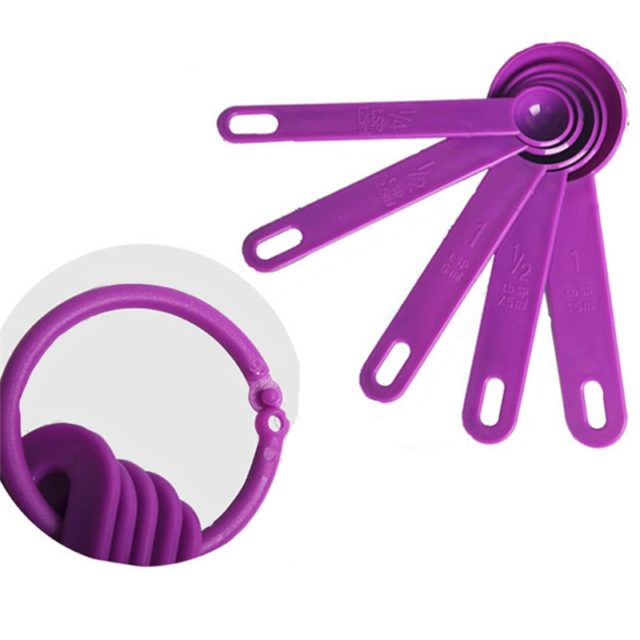 Creative 5pcs/set Baking Cooking Kitchen Tools Measuring Spoon Silicone Measuring Ladle with Scale Kitchen Tools Small Scoops