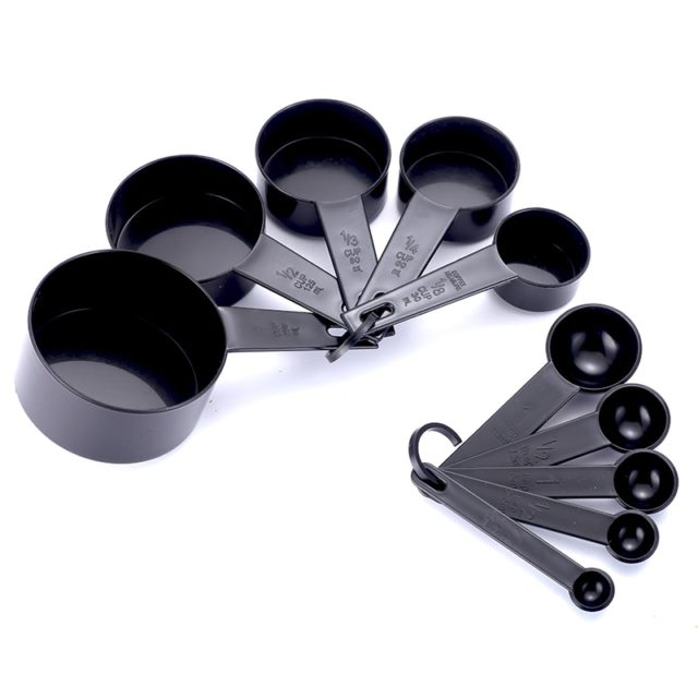3 Color Plastic Measuring Cups 10pcs/lot Measuring Spoon Kitchen Tools Measuring Set Tools For Baking Coffee Tea