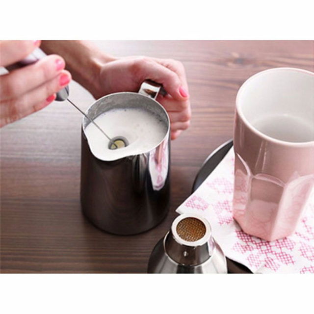 Mini Electric Whisk Mixer Stirrer Stainless Steel Hand Drill Mixer Stem Egg Beater For Coffee Milk Frother Whipped Creamer Juice
