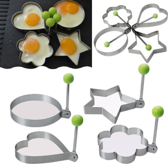 Kitchen Stainless Steel Fried Egg Shaper Pancake Mould Kitchen Cooking Mold Tools Form For Frying Eggs Tools Omelette Mould
