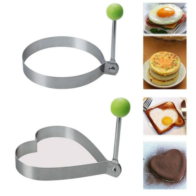 1pc Stainless Steel Omelet Mold Breakfast Maker 5 shape Durable Egg Pancake Mould Kitchen Tools Household Accessories