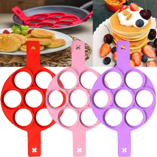 Fried Egg Pancake Maker Nonstick Cooking Tool Round Heart Pancake Maker Egg Cooker Pan Flip Eggs Mold Kitchen Baking Accessories