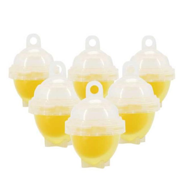 6pcs/set Silicone Egg Poacher Cups Steamer Egg Cooker Hard Boiled Egg With Yolk Separator Egg Tools Kitchen Accessories