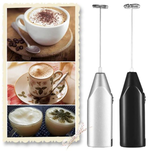 1pc Milk Drink Coffee Whisk Mixer Electric Egg Beater Frother Foamer Mini Handle Stirrer Practical Kitchen Egg Tool Gadget
