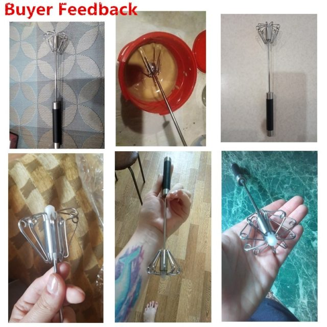 Home Kitchen Tools Semi-automatic Eggbeater Manual Self Turning Stainless Steel Whisk Hand Mixer Blender Egg Tools венчик