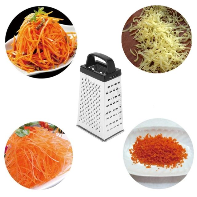 Black/White Random 4 Sided Blades Cheese Vegetables Grater Carrot Cucumber Slicer Cutter Box Container Kitchenware Stainless