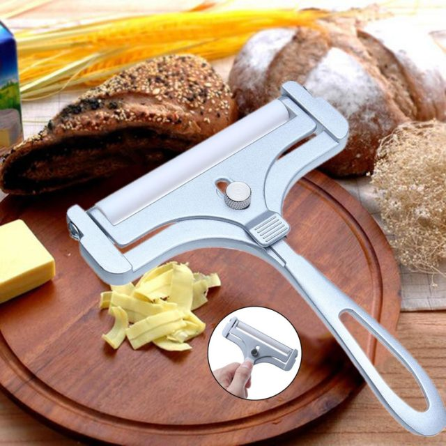 Kitchen Zinc Alloy Adjustable Cheese Slicer Cutter Cheese Slicers Knife Butter Grater Wire Home Baking Cooking Tools Gadgets