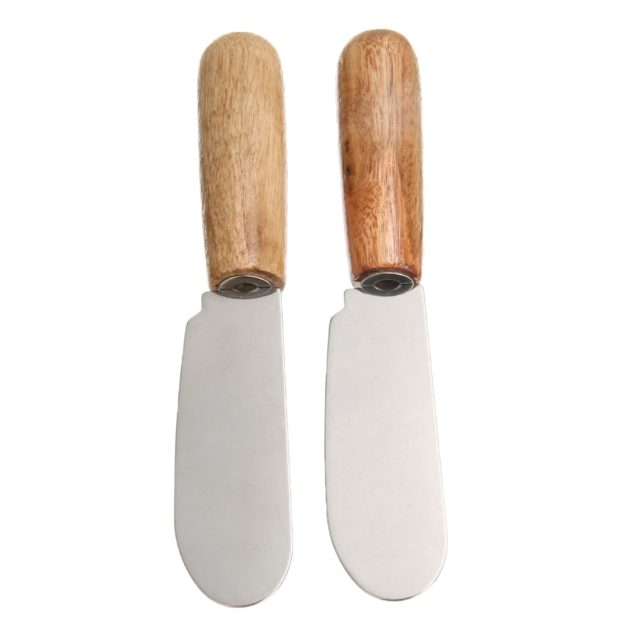 2pcs Stainless Steel Cheese Butter Spatula Child Kid Sandwich Cheese Slicer Knife Cutter Safety Kitchen Tool Accessories