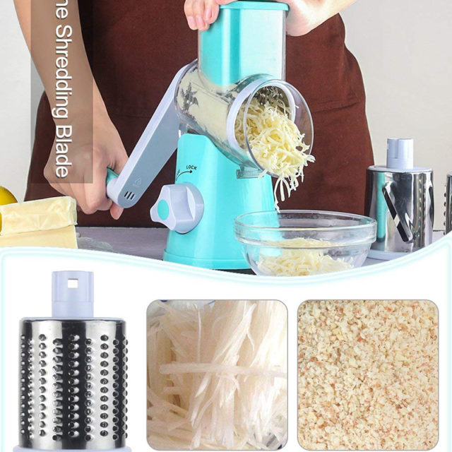Multifunctional Rotary Cheese Grater Butter Shredder Tool for Walnuts, Vegetable, Potato New Kitchen Tools In 2018