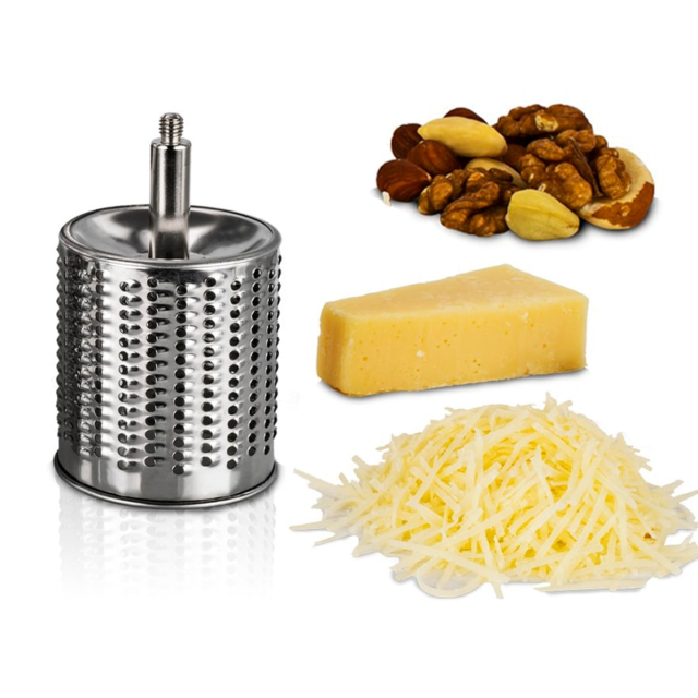 Rotary Cheese Grater Food Mills With 1 Drum Blade for Grating Cheese and Nut Grinder Grinding Nuts