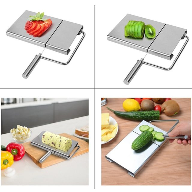 Cheese Slicer - Cutting Serving Board For Hard and Semi Hard Cheese or Butter, 10-Pack Replacement Stainless Steel Cutting Wire