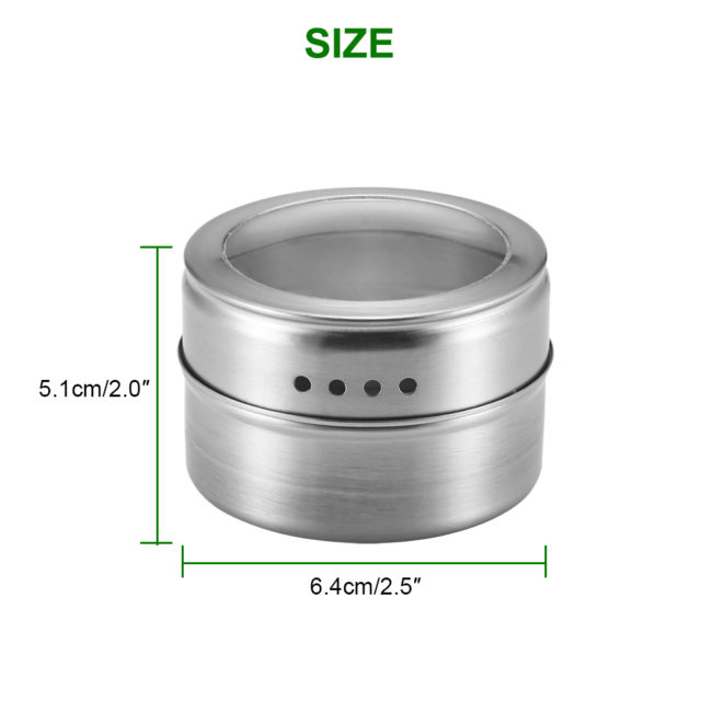 6PCS Magnetic Spice Jar Stickers Salt Holder Box Shaker For Spices Cans Container Pepper Spray Kitchen Seasoning Powder Storage