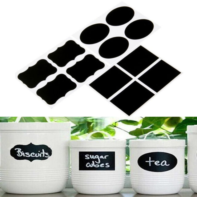 36Pcs/lot Kitchen Spice Stickers DIY Blackboard Sticker Labels for Spice Bottle Jar Chalkboard Handmade Label Tags Kitchen Tools