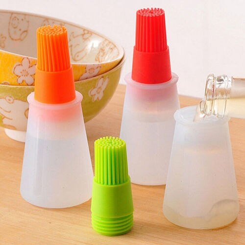 1Pcs Oil Bottle Brushes Tool Heat Resisting Silicone Cleaning Basting Oil Brush  Cooking Tools
