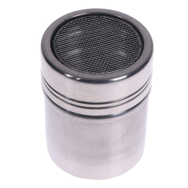 Top Selling Premium Stainless Steel Chocolate Shaker Cocoa Flour Salt Powder Sugar Coffee Sifter Lid Shaker Kitchen Accessories