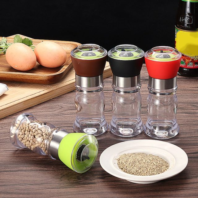 4 Colors Manual Stainless Steel Salt Pepper Grinder Spice Mill Ceramic Core Kitchen Cooking Grinding Tools Portable and U