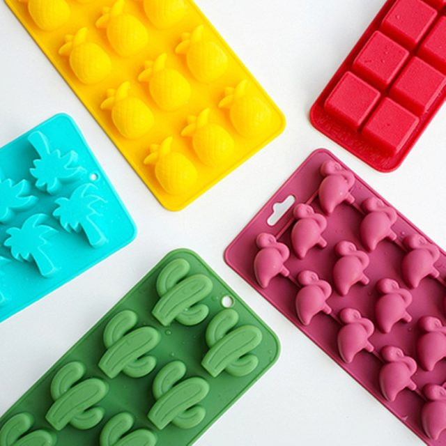 Flamingo Silicone Ice Moulds Diy Ice Cube Mold Silicone Ice Mold Maker Tray Fruit Chocolate Mold Diy Candy Bar Kitchen Tool