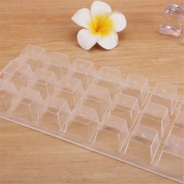 2019 New 1PC Summer 21Grid Ice Cube Pudding Maker Mold Refrigerator Ice Mould Tray Tool Soft Plastic Bar Kitchen Tools Gadgets