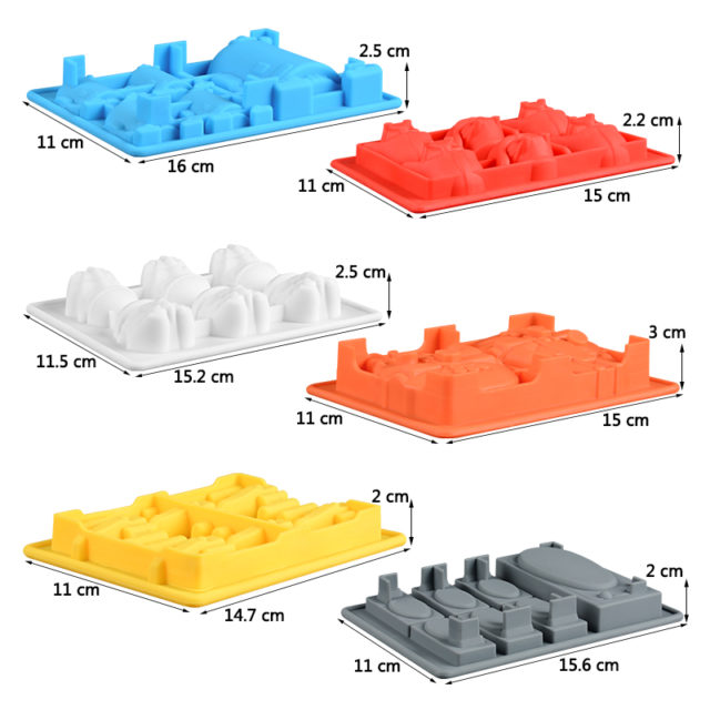 SILIKOLOVE Cake Decorating Moulds Silicone Molds for Baking Chocolate Candy Gummy Dessert  Ice Cube Molds for Star War Fans