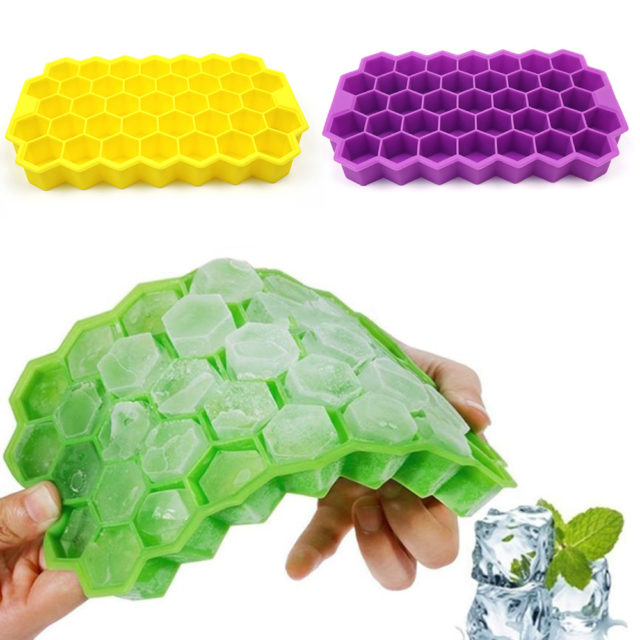 37 Cubes Ice Tray Cube Mold Creative DIY Honeycomb Shape Ice Cube ray mold Ice Cream Party Cold Drink Bar Cold Drink Tools