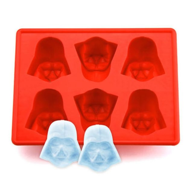 1pcs Fun Star Wars Darth Vader Cocktails Silicone Mold Ice Cube Tray Chocolate Fondant Mould diy Bar Party Drink SQ149