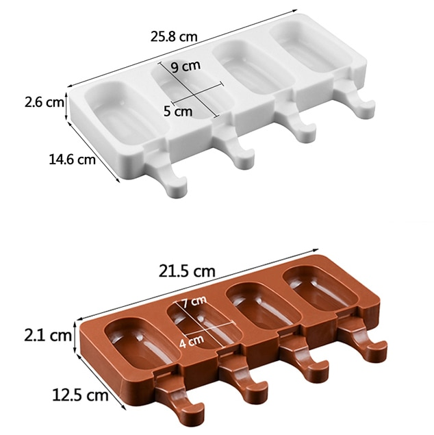 Silicone Freezer Ice Cream Mold Popsicle Maker Pop Lolly Tray Ice Cube Making Juice Popsicles Molds Childrenr candy bar Tool