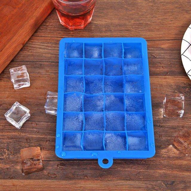 15/24 Grids DIY Creative Big Ice Cube Mold Square Shape Silicone Ice Tray