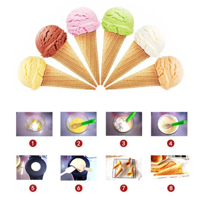 Egg Roll Ice Cream Roll eggs Omelet Mold ice cream cone maker parts Baking Pan for Waffle cake Bakeware Baking Tools