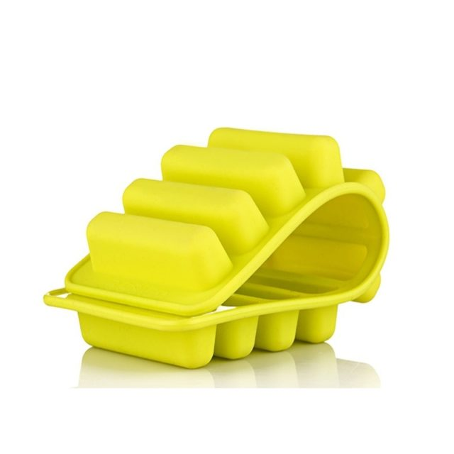 1pcs Summer Artifact Silicone Ice Cube Tray Mold Fits For Water Bottle Ice Cream Pudding Maker Mold Bar Kitchen Tool 4 Colors