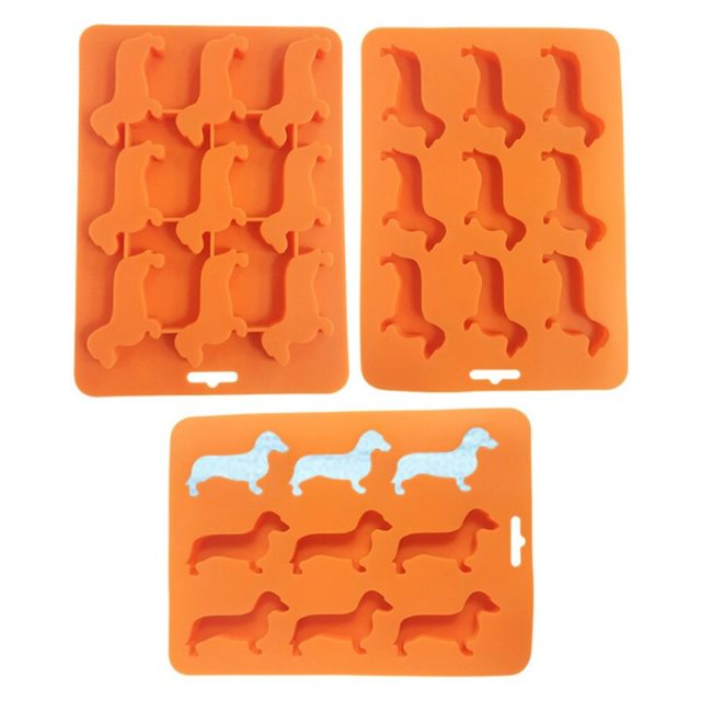 Creative Silicone Dachshund Puppy Shaped Ice Cube Chocolate Cookie Mold DIY Home Ice Tray Kitchen Tools Dropshipping Kitchen